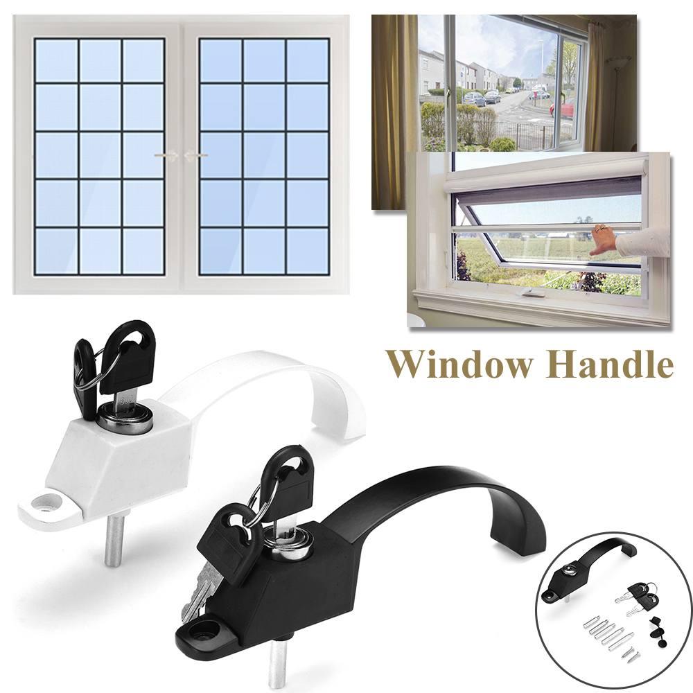 Aluminum alloy Window Handle With Lock Child Safe...