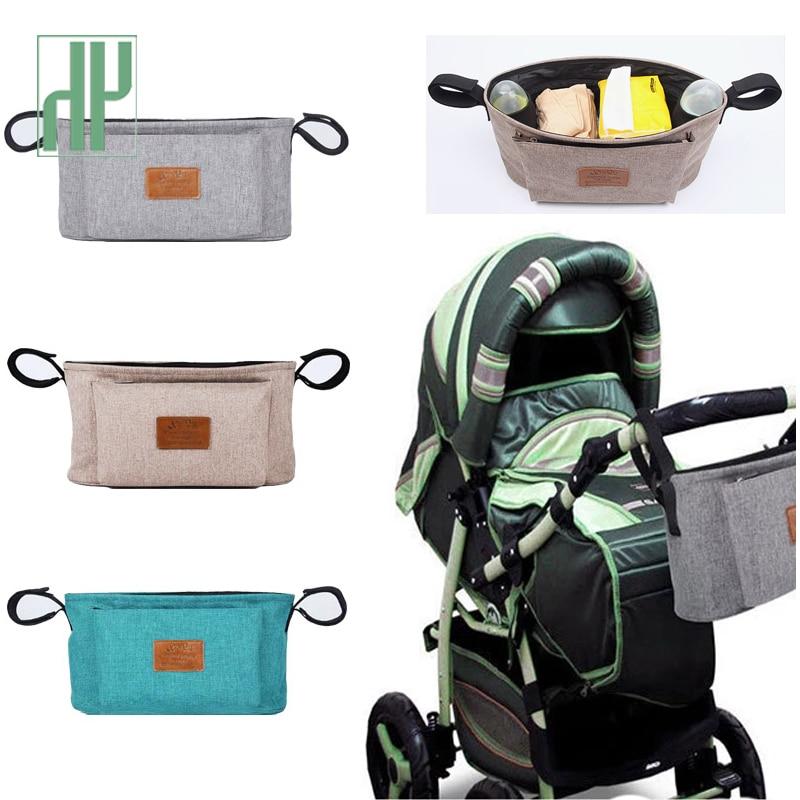 Baby Stroller Organizer Nappy Bag Mummy Waterproof Hanging Carriage Bottle Bag Handbag Pram Buggy Cart Organizer Diaper Bag