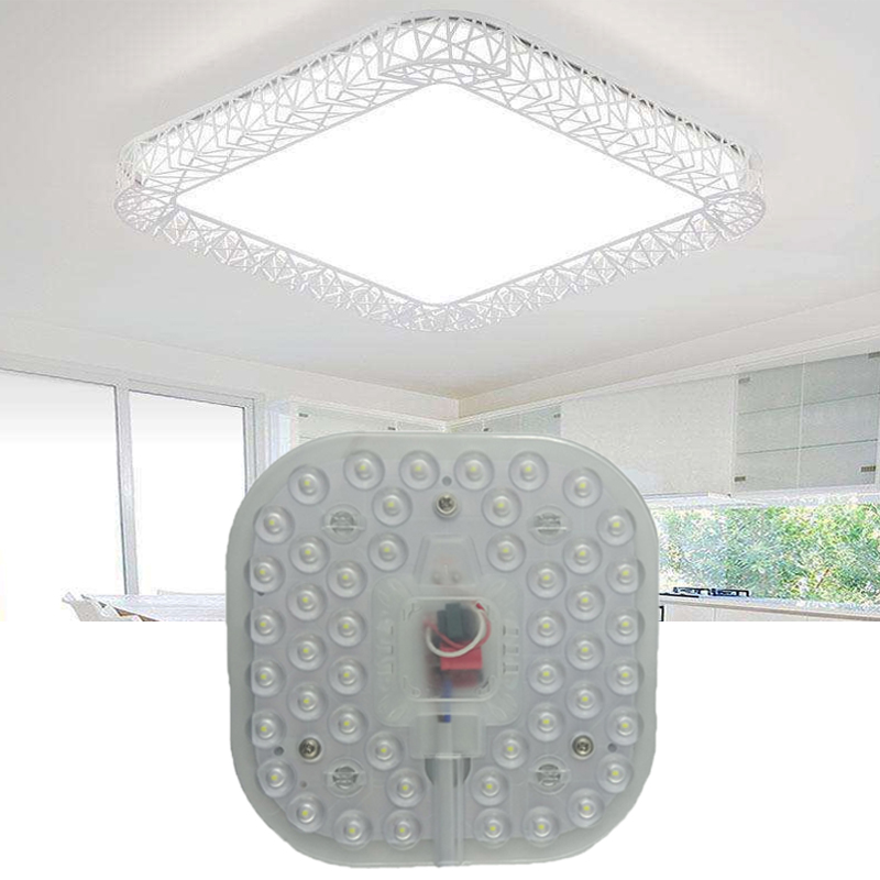 Led Module Light AC220V 230V 240V 12W 18W 24W Square Ceiling Lamps Lighting Source Energy Saving Convenient Installation