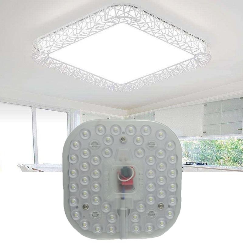 Led Module Light AC220V 230V 240V 12W 18W 24W Square Ceiling Lamps Lighting Source Energy Saving Convenient Installation