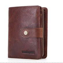 Men Wallets Black Genuine Leather Purse For Male's Business