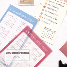 MyPretties 2 Sheets/Set 2021 2022 Calendar Stickers Functional Planner Stickers Monthly Schedule Mark Agenda Stationery Stickers