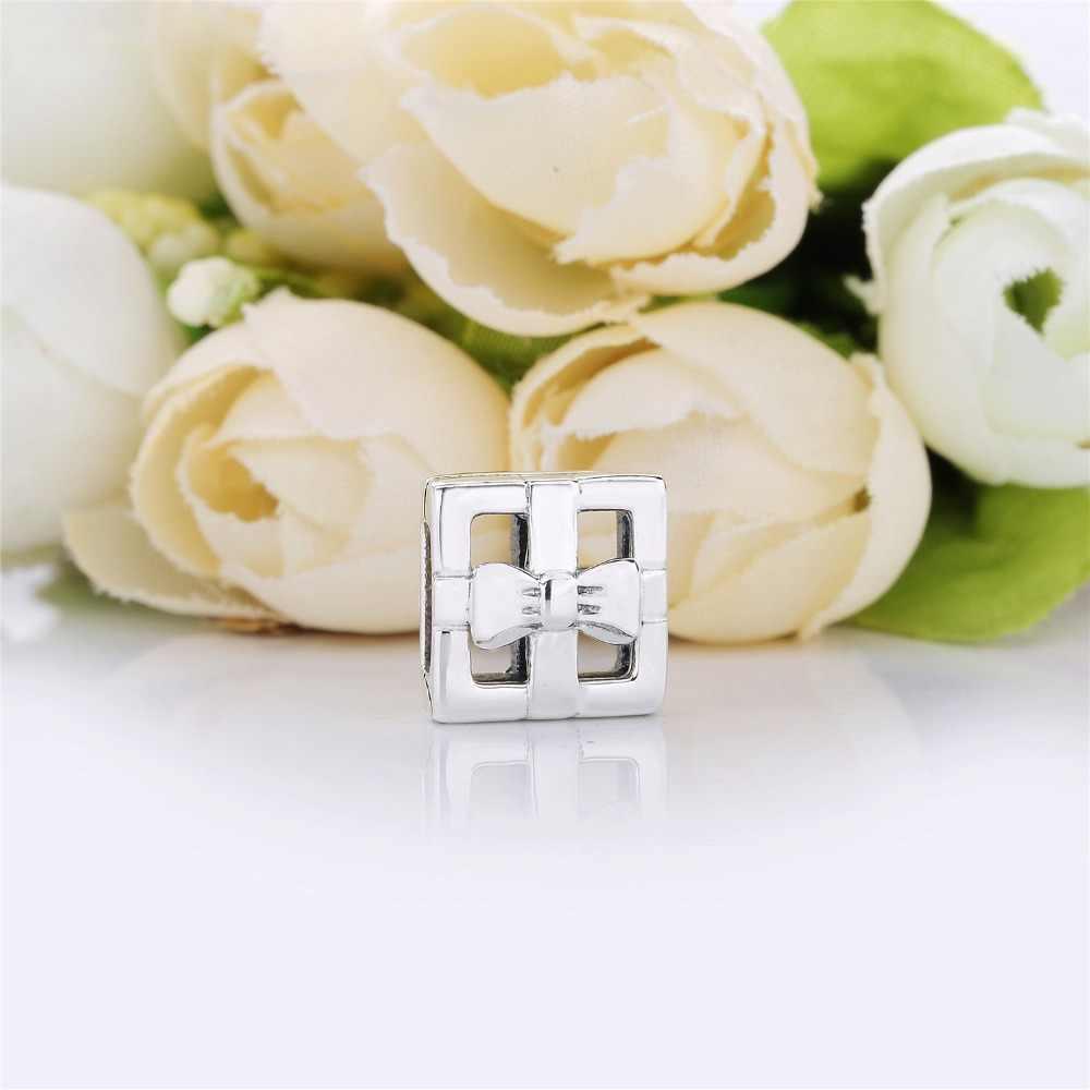 925 Sterling Silber Neue Reflexion Armband & Charms Clips Zirkon Klar Rose Gold Farbe Perlen Machen Schmuck