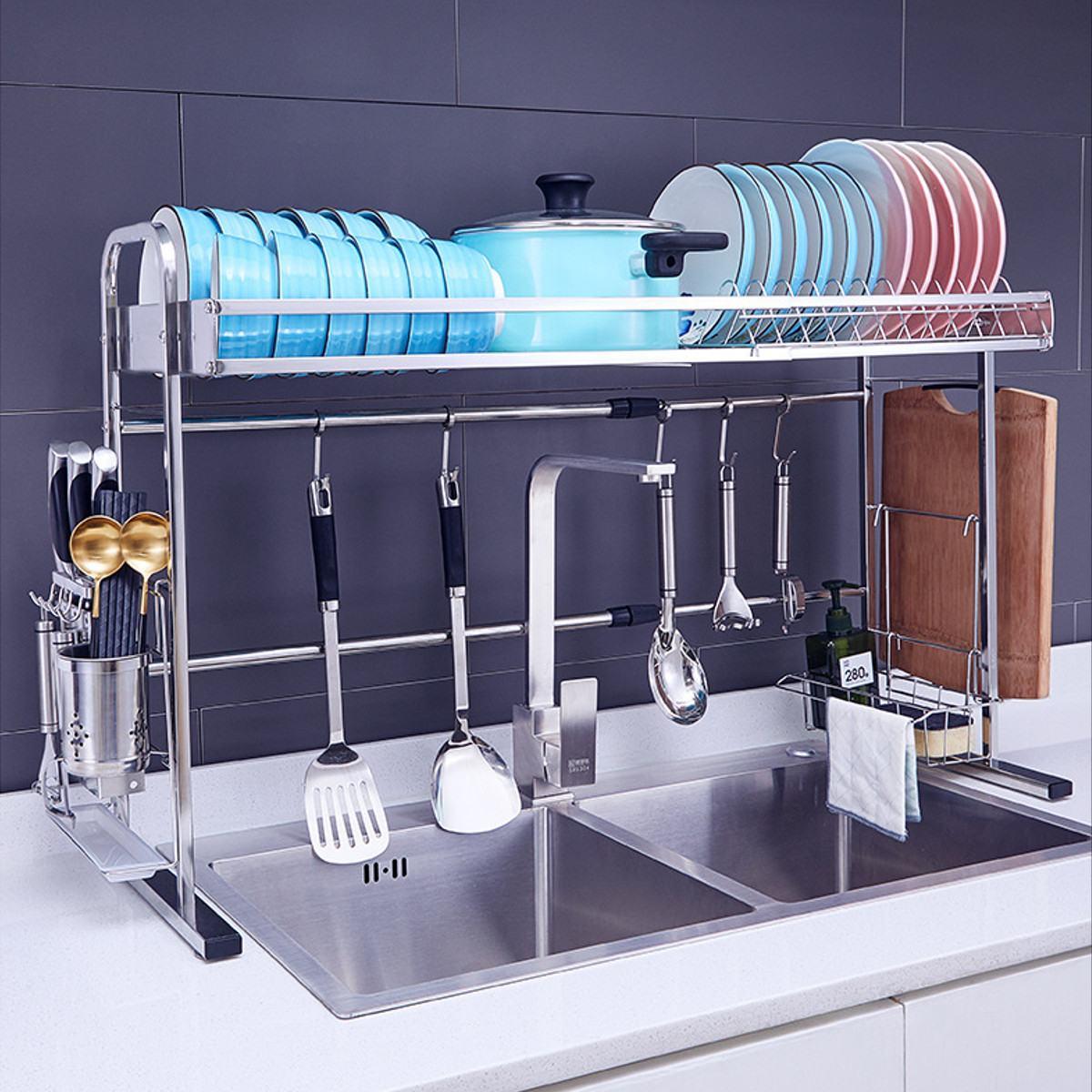 pia superior pratos de lavagem pauzinhos colher