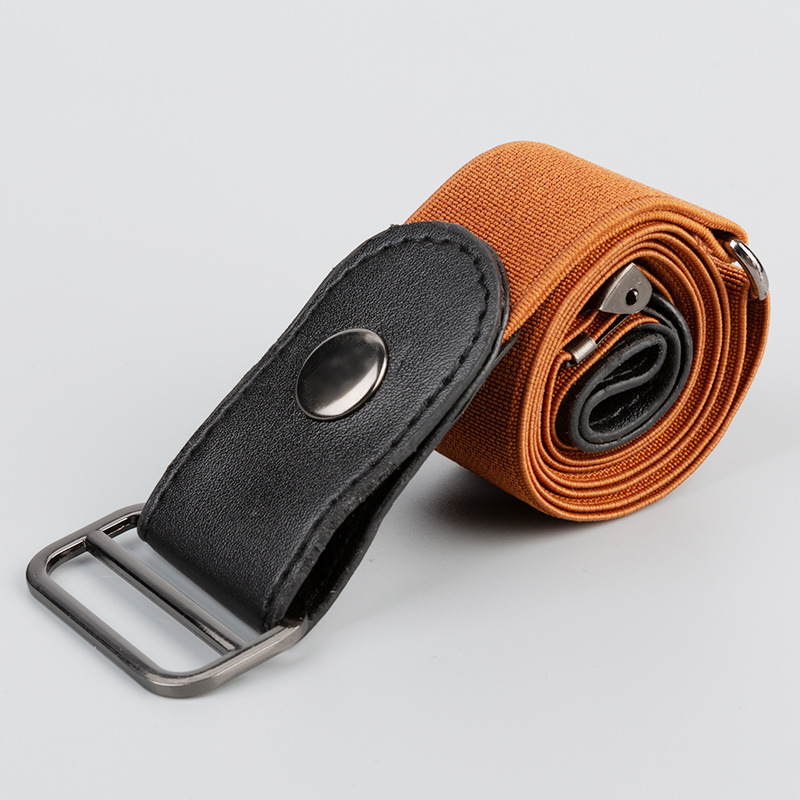 DYROREFL New Stretch  Invisible Belt Without Buckle Jeans Simple Versatile Men And Women Lazy Belt C088QT