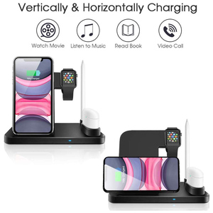 Image 3 - Wireless Charger 4 In 1 10W Phone Holder Fast Charger Station For Apple Watch 5 4 3 2 Airpods 1 2 Iphone 11 Pro Max XR X Docking