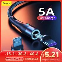 Baseus-磁気携帯電話ケーブル,iPhone,Samsung,Huawei用の急速充電器USBタイプCケーブル,マイクロコード