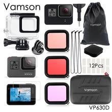 فامسون إكسسوارات كاميرا Gopro Hero 7 6 5 ، حقيبة غوص مقاومة للماء ، حماية 45 متر ، كاميرا VP630