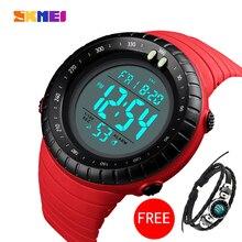 SKMEI Men's Sports Watch LED Luminous Digital Watch Military