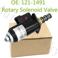 Parte #121 1491, 1211491 KWE5K 31 G24DA30 gato válvula de solenoide para Caterpillar E320B/C/D 315C 325C excavador giratorio de la válvula de solenoide