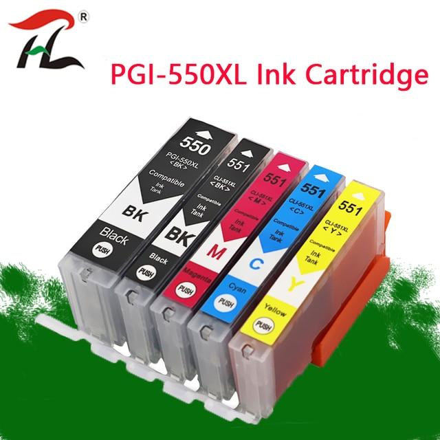 PGI550 чернильный картридж pgi550 PGI 550 CLI 551 для Canon PIXMA MG5450 MG5550 MG6350 цветной струйный принтер