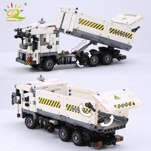 Image 5 - HUIQIBAO 799pcs Technic Engineering Dump Truck Building Blocks Vehicle Car Bricks Set Educational DIY Toys for Children Boys