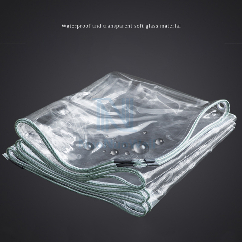 0.3mm Thickened Rainproof Cloth Highly Transparent Soft PVC Glass Waterproof Keep Warm Film Succulent Flowers Protective Cover
