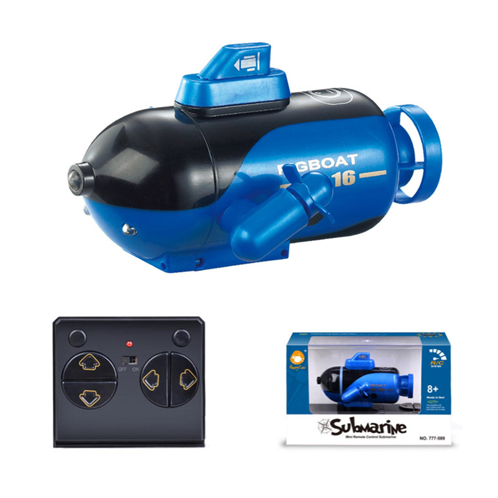 Updated Version RC Submarine Speed Electric Remote Control Boat Toy Induction Simulation Model Diving Boat Toy For Kids Gift