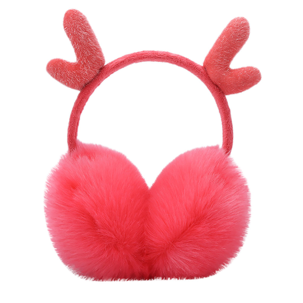 SAGACE Warm Ear Muffs For Women New Adjustable Antlers Plush Earmuff Women Ear Protect  Winter Earmuffs Adult