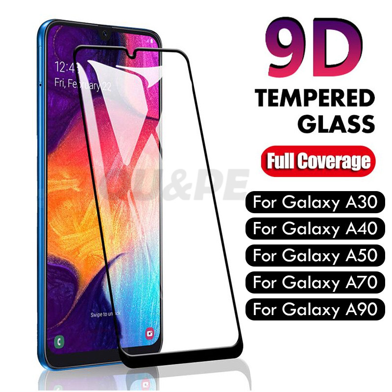 9D Tempered Glass For Samsung Galaxy A30 A50 A20 A20E Screen Protector Glass For Samsung Galaxy M20 M30 A40 A80 A70 A60 Glass