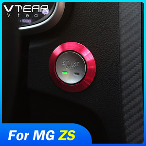 Vtear for MG ZS start switch button decorative ring circle trim engine key start button interior parts moulding car-styling 2020