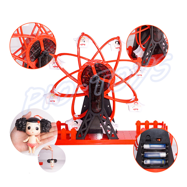 Children Day Gift Ferris Wheel Electrical Baby Toy Doll Figures Kids Fun Game Music Play Shiny Light Present 3