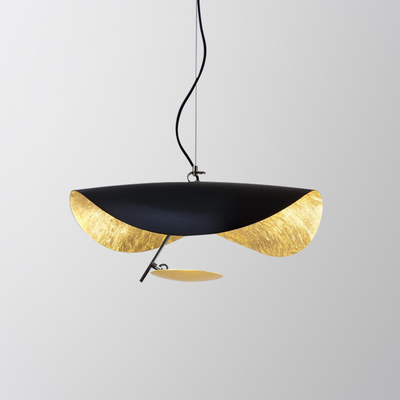 Nordic Creative Flying Saucer Pendant Light For Living Room Suspension Light Art Restaurant Study Designer Model Room Pendant La image
