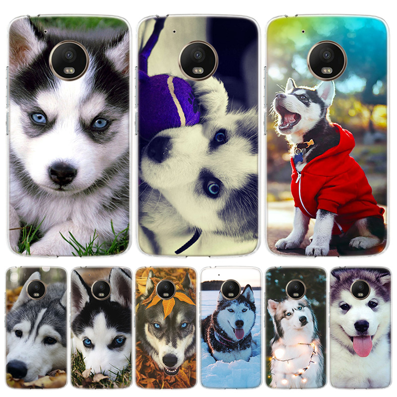 Animal Husky Puppy Dog Phone Case For Motorola Moto G7 G8 G6 G5S G5 E6 E5 E4 Plus Power G4 One Action X4 EU Gift Coque Cover
