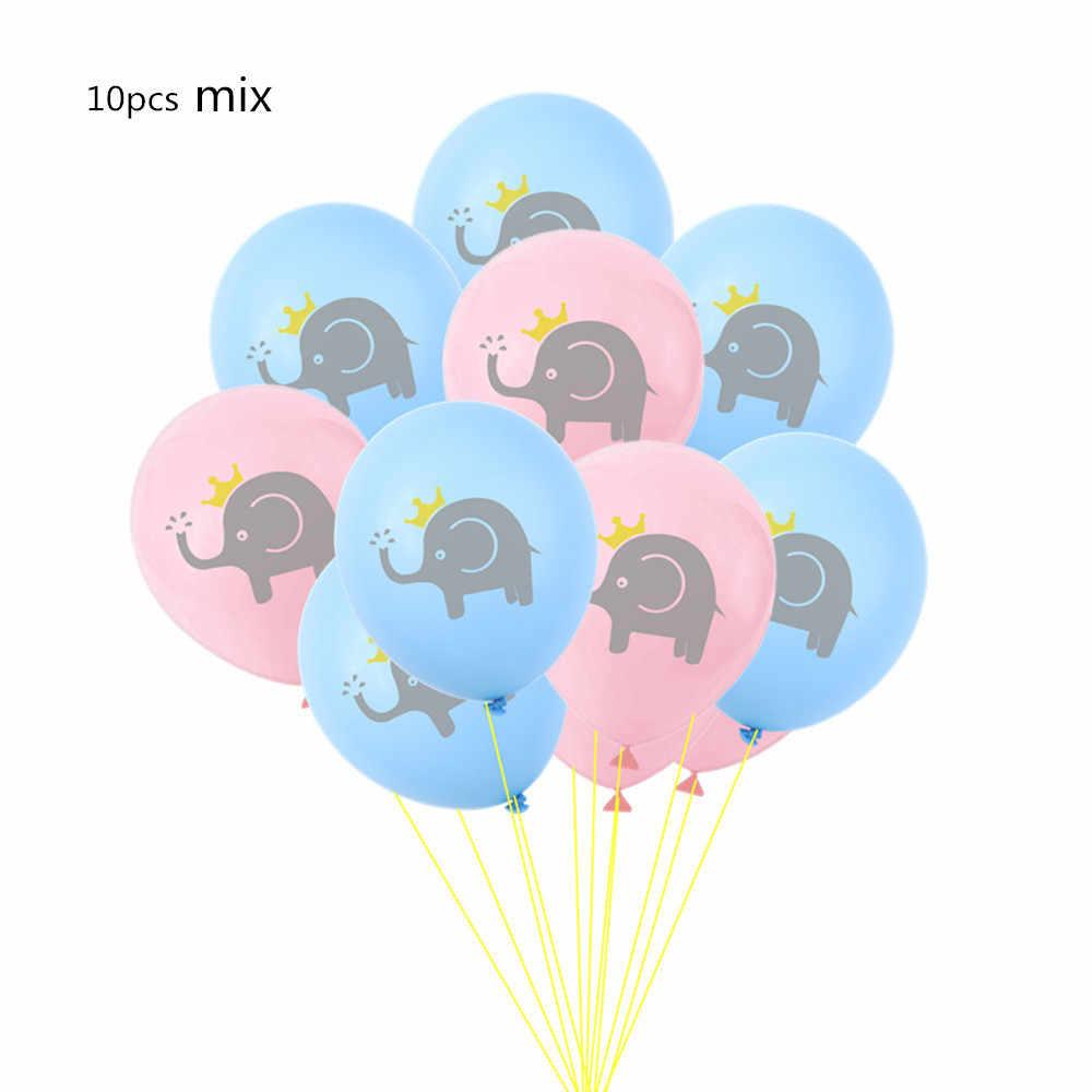 10 Uds. 12 pulgadas de alta calidad Animal globo de látex elefante dinosaurio perro cumpleaños tema Fiesta inflable bolas helio globos chico de juguete