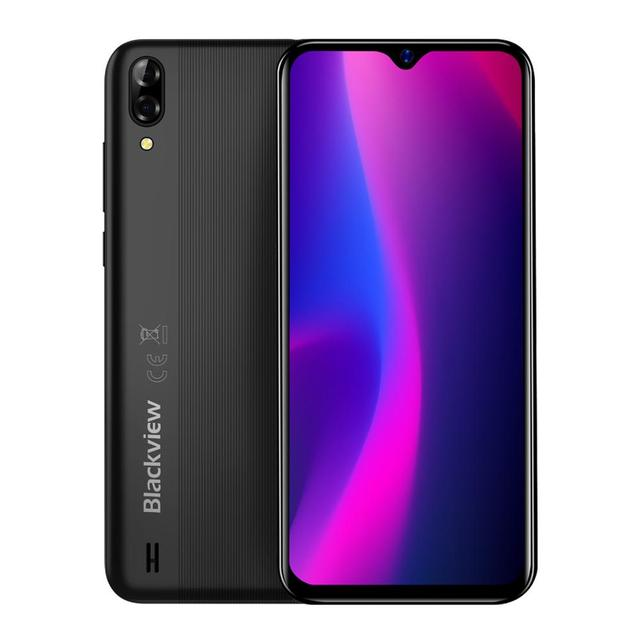 Blackview A60 2GB+16GB 4080mAh Smartphone Android 10.0 Quad Core 6.1'' 19.2:9 Waterdrop Screen 3G Mobile Phone 5