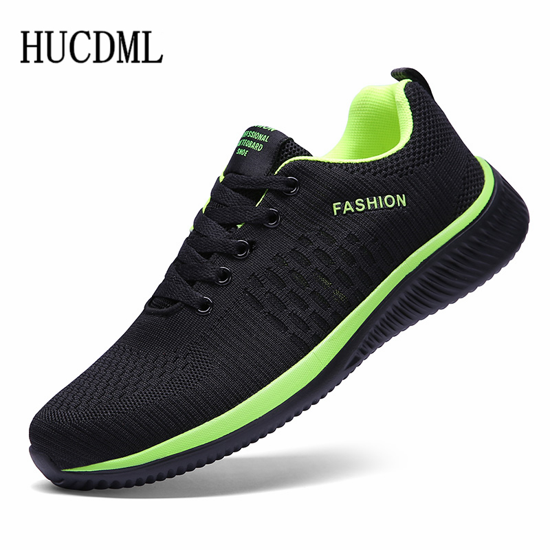 HUCDML New Hot Sale Men Casual Shoes Lace Up Comfortable Men\'s Shoes Ultralight Walking Sneakers Size 39-45 Dropshipping