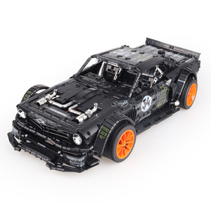 Image 2 - In Stock Technic Series Super Racing Car RC Ford Mustang Hoonicorn RTR V2 Building Blocks Bricks Toy for Children Gifts
