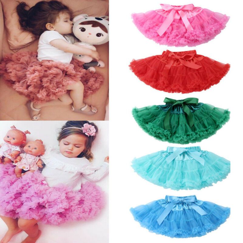 Cute Kid Tutu Skirt Bowknot Bow Gown Skirts 0-5YEARS
