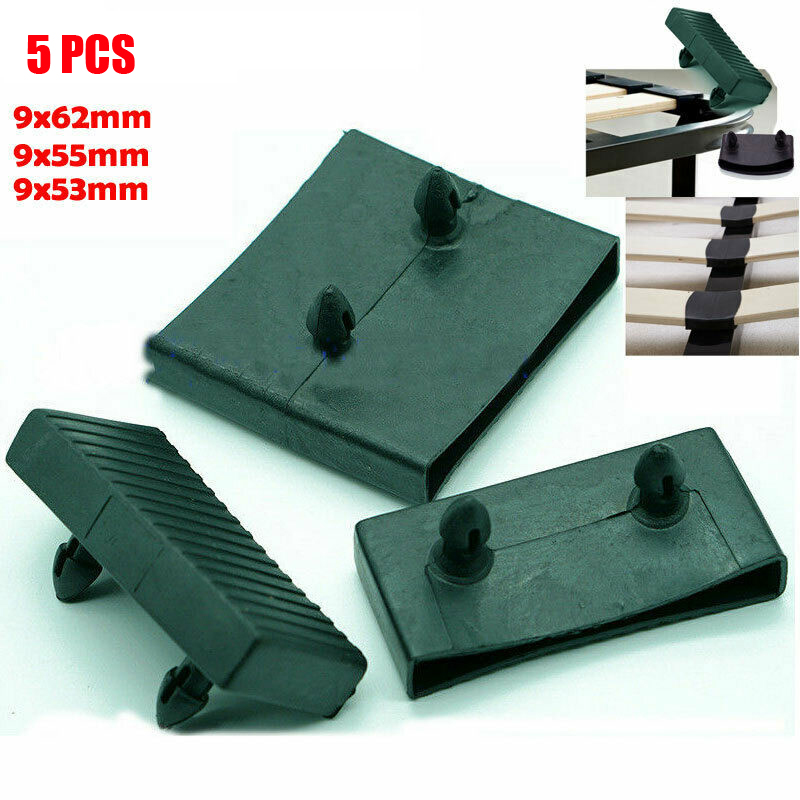 5PCS Plastic Square Replacement Sofa Bed Slat Centre End Caps Holders Inner Size 9mm X 53mm 55mm 62mm