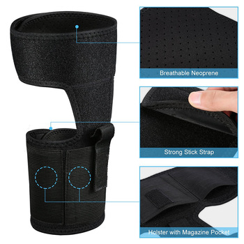 Tactical Concealed Carry Ankle Holster  Pouch Elastic Secure Strap Leg Pistol Gun Holster Hunting Bag 5