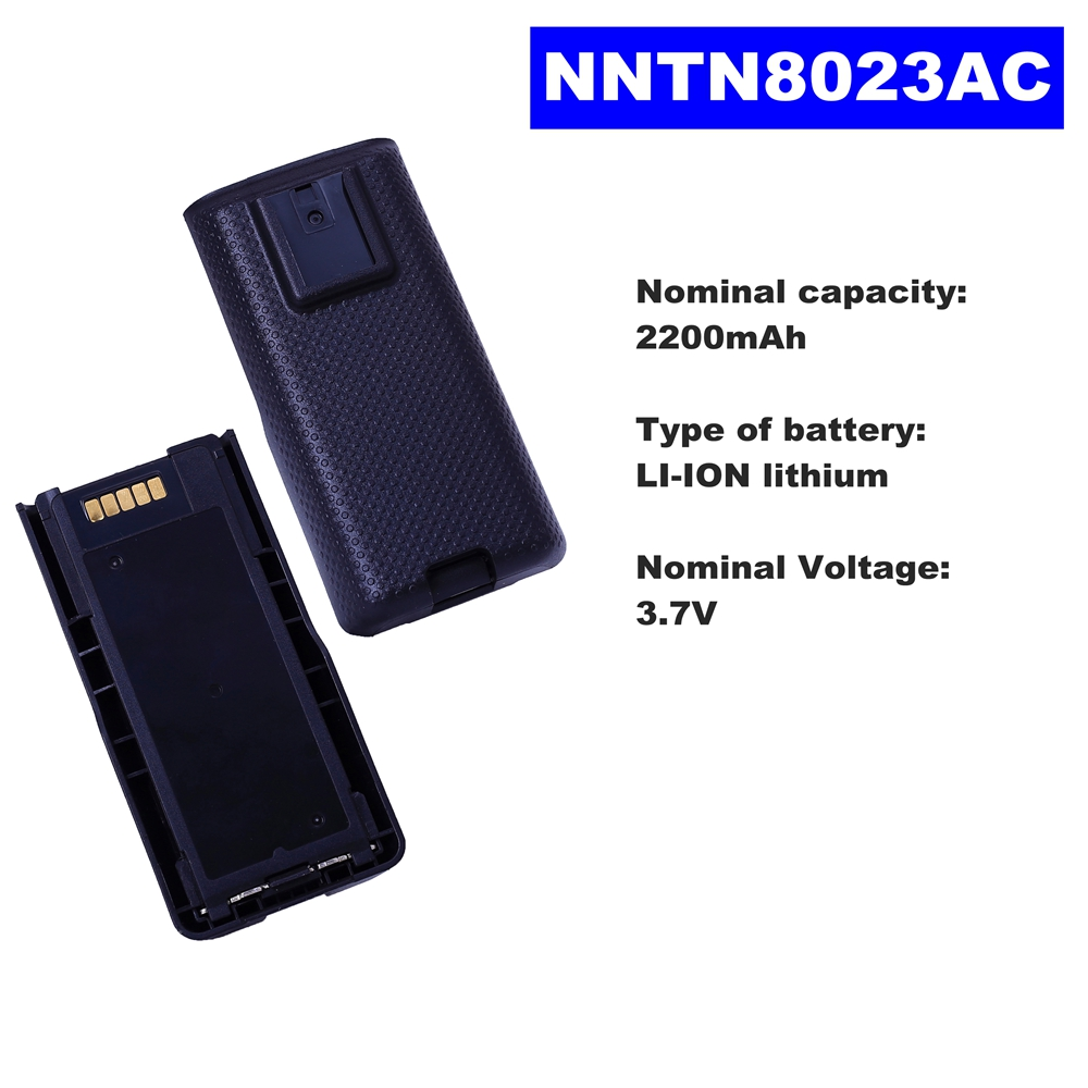 3.7V 2200mAh LI-ION Radio Battery NNTN8023AC For Motorola Walkie Talkie MTP3100/3150/3250 Two Way Radio