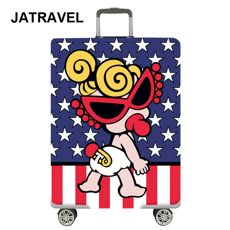 JATRAVEL Cartoon Case Cover Thick Elastic Luggage Protective Cover Zipper Suit For 18-30 Inch Trunk Travel Accessories