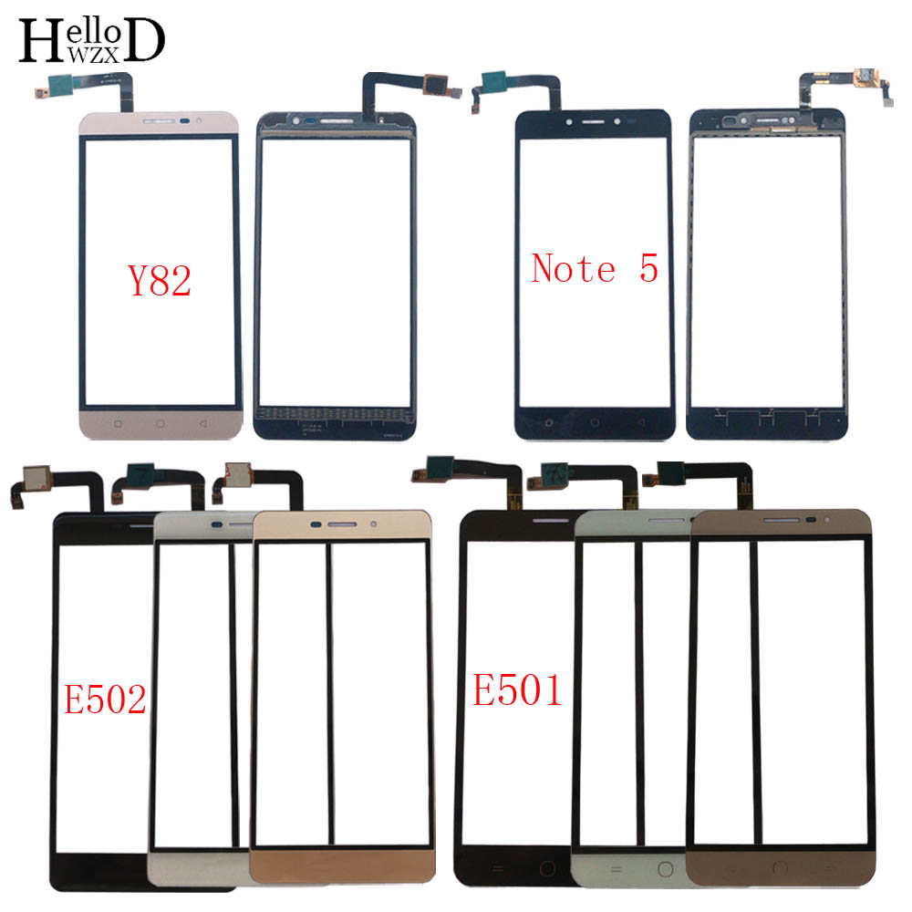 Mobile Touch Screen Panel For Coolpad E501 E502 Note 5 Y82 Digitizer Panel Front Glass Lens Sensor TouchScreen 3M Glue Wipes