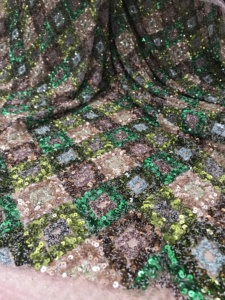 Image 4 - Beautiful JIANXI.C 12301 French Net Lace Fabric with sequins Latest african guipure lace fabric with embroidery