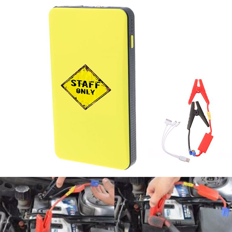 Mini Portable 12V Car Battery Jump Starter Auto Jumper Engine Power Bank Starting Up To 2.0L Car Start power bank STAFF ONLY Pil Şarj Üniteleri Otomobiller ve Motosikletler - title=