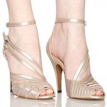 البيع بالجملة الأحذية السالسا جلد البقر المدبوغ أحذية عالية الكعب الزفاف أسود عارية رمادي ملون المرأة الساتان اللاتينية قاعة الرقص أحذية