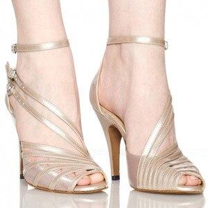 Image 1 - Groothandel Retail Salsa Schoen Koe Suede Hoge Hak Bruiloft Schoenen Zwart Naakt Grijs Kleurrijke Vrouwen Satijn Latin Ballroom Dans schoenen