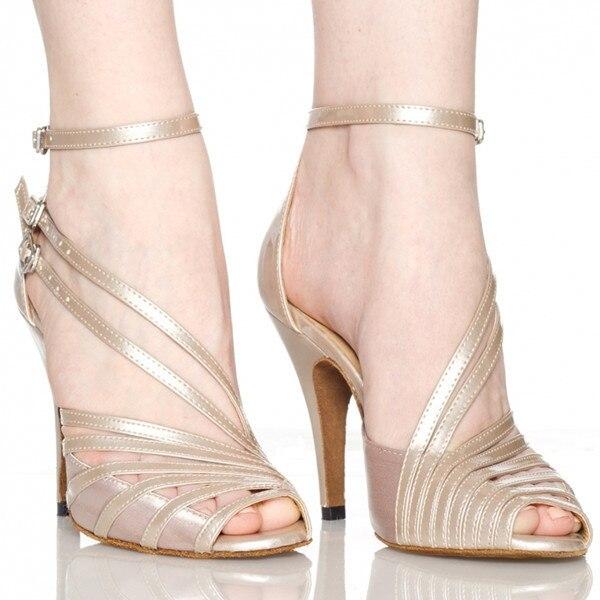 Groothandel Retail Salsa Schoen Koe Suede Hoge Hak Bruiloft Schoenen Zwart Naakt Grijs Kleurrijke Vrouwen Satijn Latin Ballroom Dans schoenen