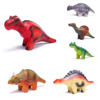 6 Pieces Dinosaur Squishy Toys Set for Slow Rising Stress Relief Super Soft Squeeze Dinosaur Toys 2019 dinosaur squishy mesh ball grape squeeze relief fidget autism stress toys anti stress dinosaur grape ball kids toys gifts