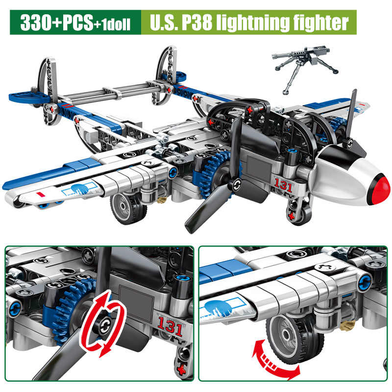 SEMBO Military Serie Kämpfer Flugzeug Modell Bausteine WW2 Mörtel Stadt Polizei Hubschrauber Bricks Bildung Kinder Spielzeug