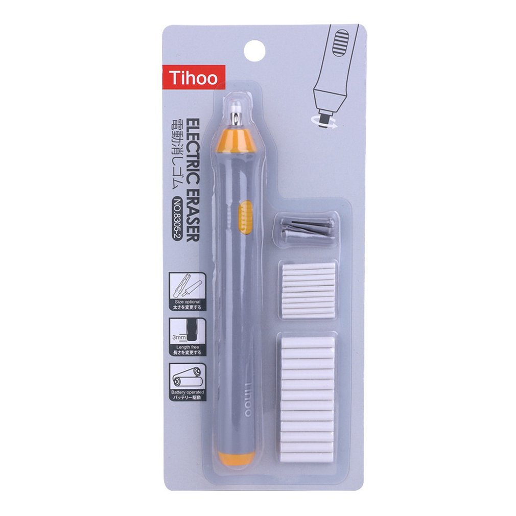 Office School Students Electric Eraser For Sketch Writing Drawing Battery Powered Electric Eraser Students Stationery Gift