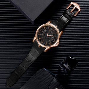 Image 5 - ONOLA brand unique quartz watch man luxury rose gold leather cool gift for man watch fashion casual waterproof Relogio Masculino