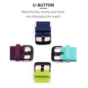 Image 3 - BOORUI Silicone Strap for huami  Amazfit Bip  PACE Lite Smartwatch Bracelet Smart Watch Accessories  with fashional colors