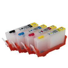 655 ink cartridge For HP 655 Refillable Cartridge With Chips for HP OfficeJet 3525 4615 4625 5525 6525 Printer Ink cartridge