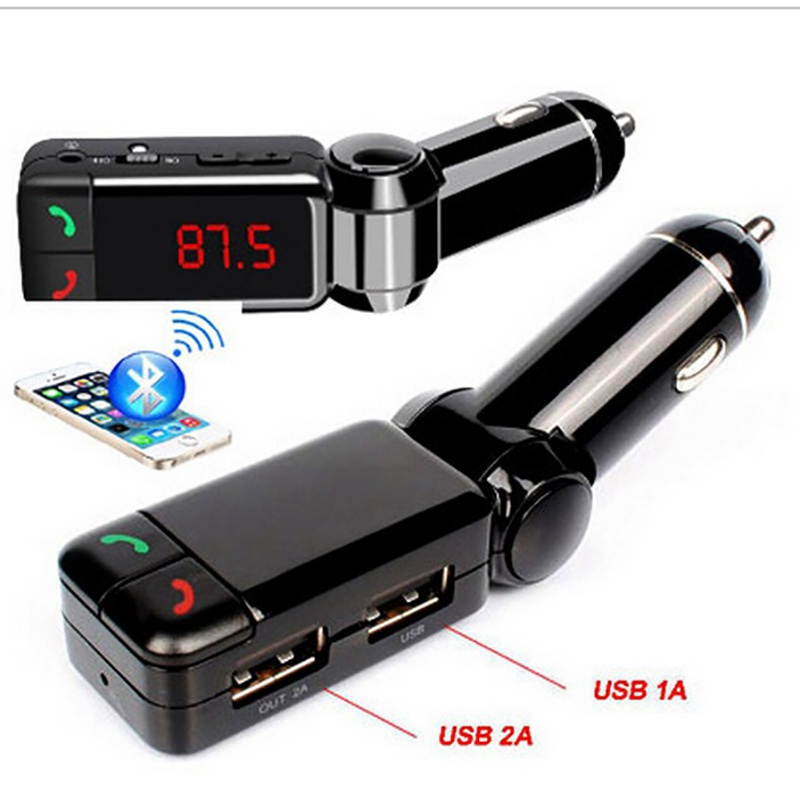 VicTsing FM Transmitter Wireless Bluetooth Car Kit Modulator Radio Adapter Car MP3 Audio Player USB Charger car charger in Wireless Adapter from Consumer Electronics