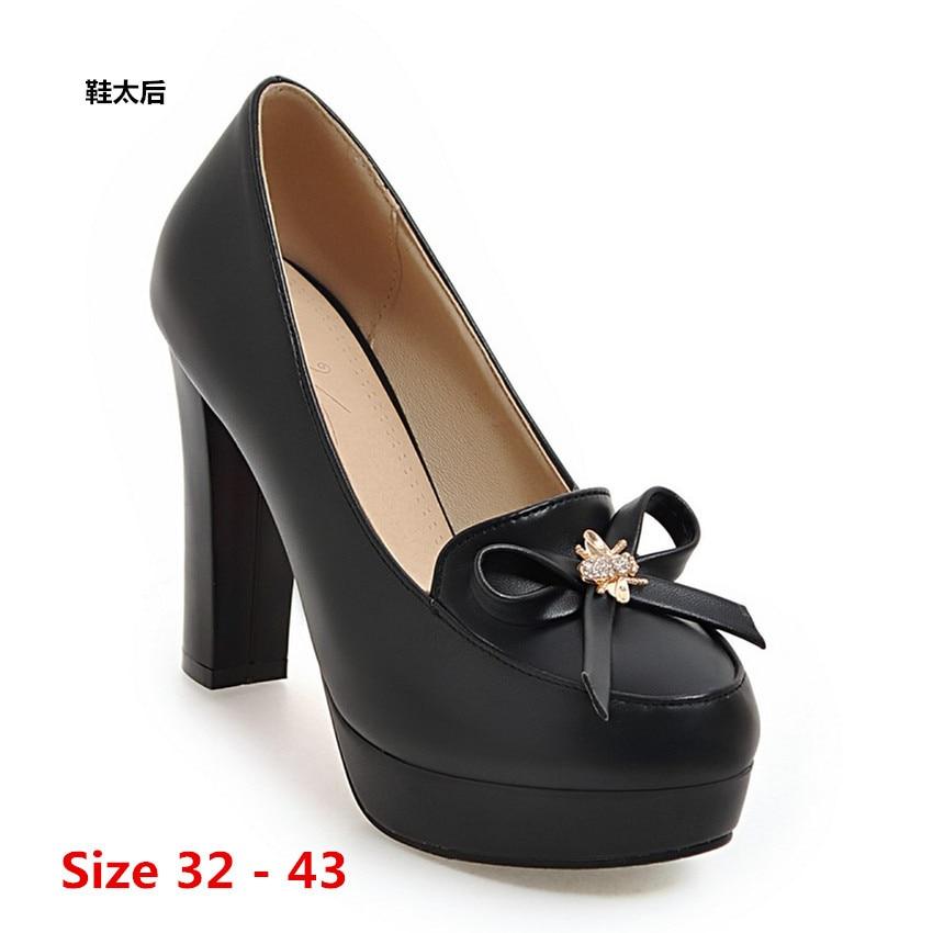 High Heel Shoes Woman Platform Pumps Wedding Party Shoes Dress Women Shoes High Heels Ladies Shoes Small Big Size 32 - 43