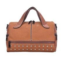 Ladies bag luxury handbag small crossbody ladies 2019 high quality leather shoulder rivet decoration