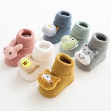 Grube skarpety frotte skarpetki dla niemowląt lalka Cartoon antypoślizgowe skarpetki dla noworodka skarpetki podłogowe dla dzieci utrzymuj ciepłe skarpetki dla niemowląt tanie tanio W wieku 0-6m 7-12m 13-24m 25-36m Unisex DE (pochodzenie) COTTON spandex Aktywny yang201013 baby