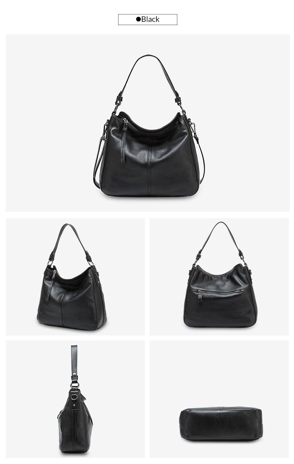Zency 100% couro genuíno elegante feminina bolsa